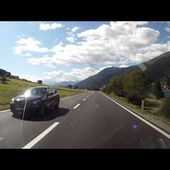 17 Goldwing Unsersbande Tirol 2015 Depart du Lac de Resia vers Stelvio