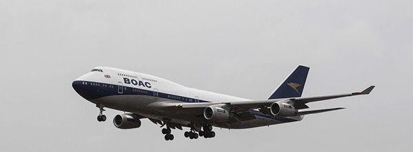 BOAC to the future as British Airways' 747 in heritage design lands at Heathrow