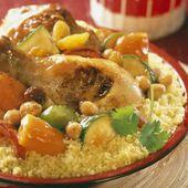 couscous poulet legumes cookeo - un plat de la cuisine marocaine.
