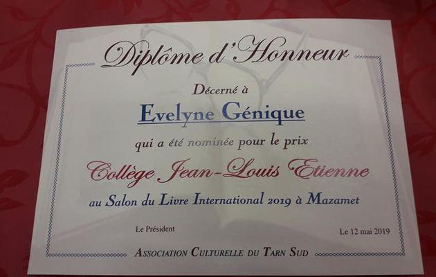 """Un diplôme d'Honneur pour mon livre """" La porte sur l'imaginaire """""""