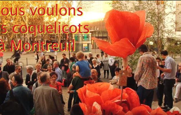 Nous voulons des coquelicots! Vendredi 2 novembre 18h30