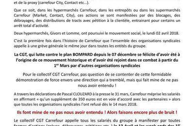 Communiqué de presse CGT Collectifs Carrefour