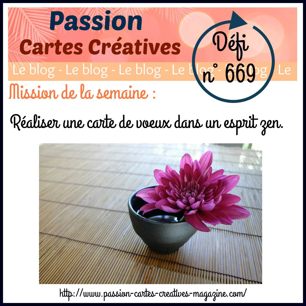 Défi 669 de Passion Cartes Créatives
