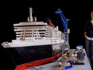 VIDEO - 1 tonne de Lego, pour une réplique du Queen Mary II