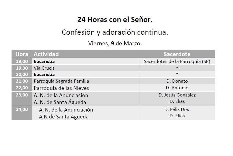 """""""24 horas para el Señor"""" en San Lesmes"""