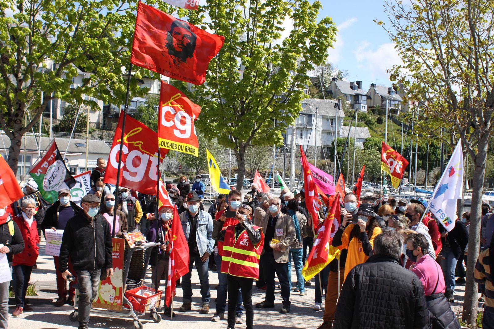 Manif du 1er mai 2021 à Morlaix - Photos de Jean-Luc Le Calvez et Ismaël Dupont