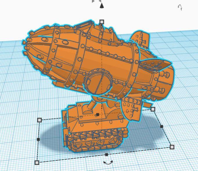 Modélisation 3D d'une supa roket pour ork dans l'univers d'Epic