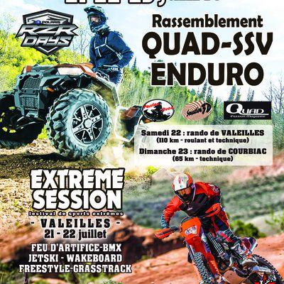 Rando motos, quads et SSV (82 et 47), le 22 et 23 juillet 2017