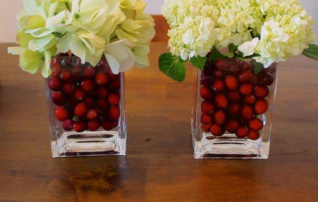 Canneberges et fleurs