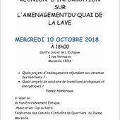 Aménagement du quai de la Lave - Réunion d'information - Le petit Estaquéen