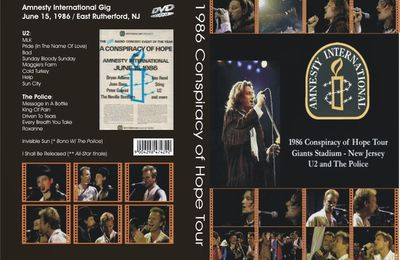 U2 -Conspiracy Of Hope -15/06/1986 -East Rutherford  Etats-Unis -Giants Stadium