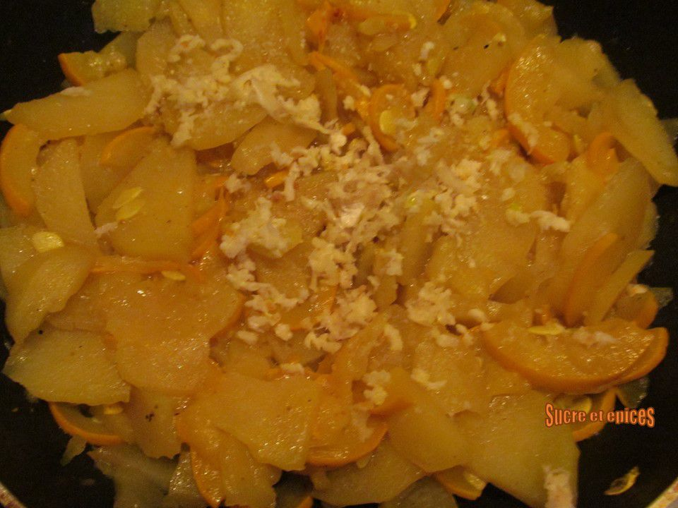 Pommes de terre sautées à la courgette
