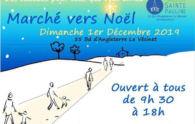 Marché de Noël église Ste Pauline du Vésinet
