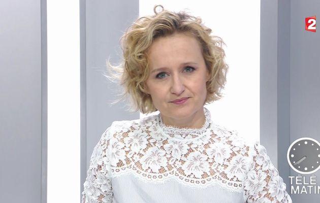 📸11 CAROLINE ROUX @Caroline_Roux ce matin @France2tv pour LES 4 VERITES @telematin #vuesalatele