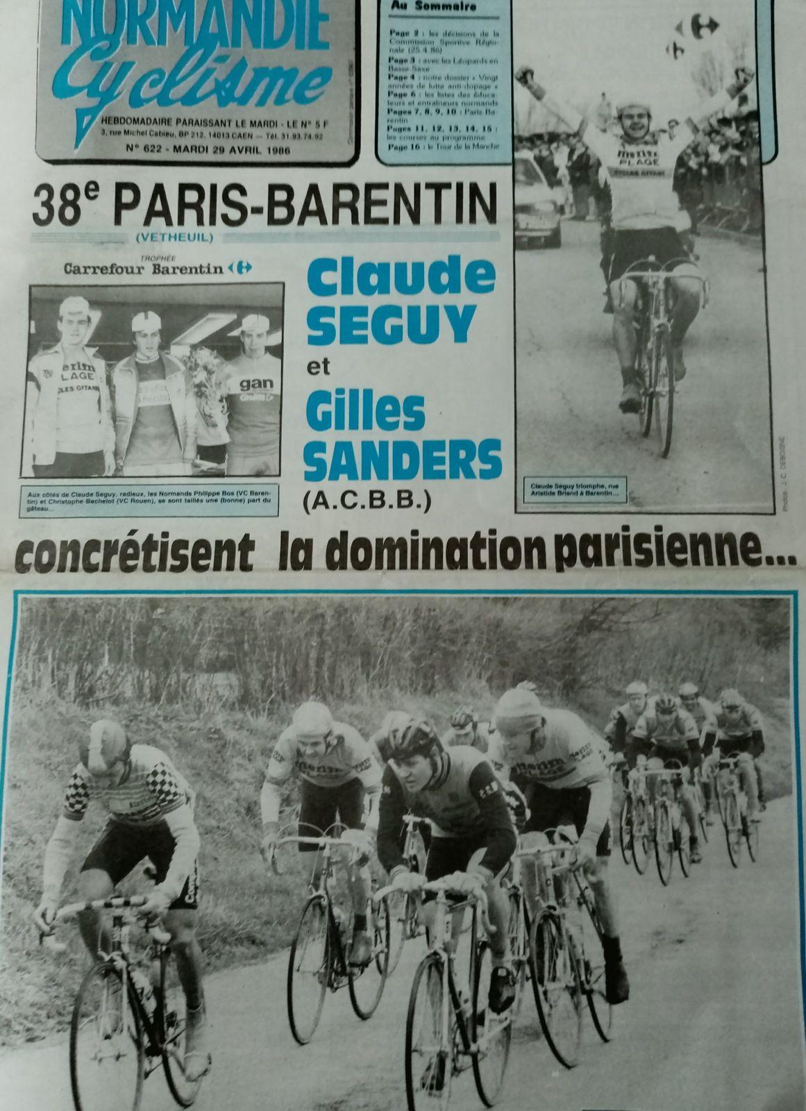 Normandie Cyclisme N°622 du 29/04/1986