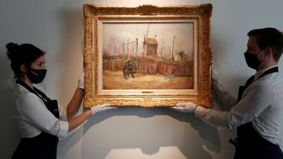 The 1887 painting will be sold on 25 March image Reuters