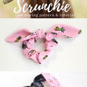 Easy Knot Bow Scrunchie Tutorial - A Simple Sewing Tutorial