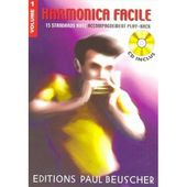 PAUL BEUSCHER PUBLICATIONS HARMONICA FACILE VOL.1 + CD - Woodbrass.com