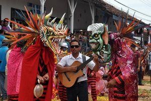 Mille et une photos du Panama, (3) les Diablicos Sucios de la fête du Corpus Christi