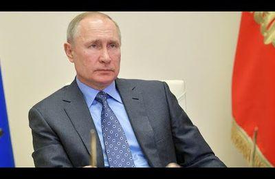 Alors que l'épidémie progresse en Russie, Vladimir Poutine déclare le mois d'avril chômé  et PAYE