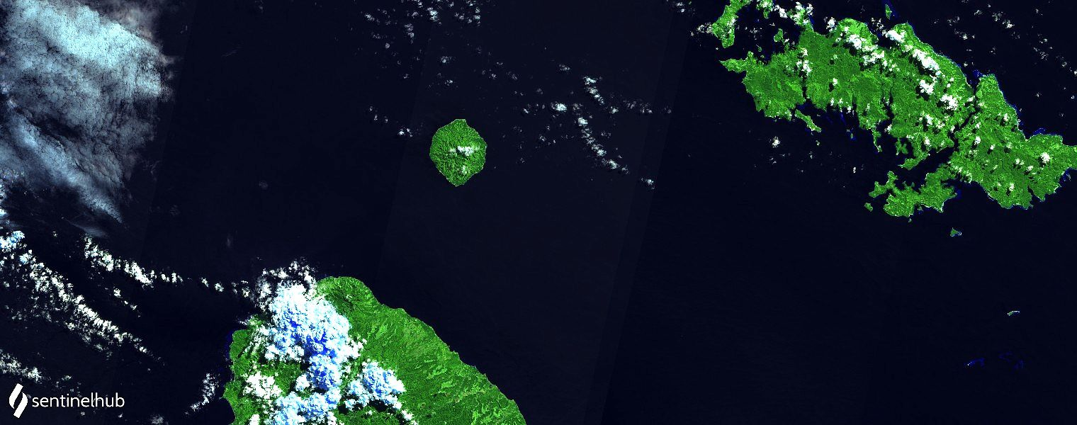Savo island - Sentinel-2 bands image 12,11,4 from 06.08.2021 - one click to enlarge the satellite images