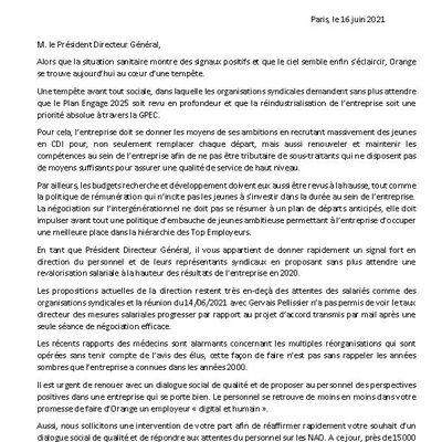 Tempête sociale à Orange : lettre intersyndicale au PDG