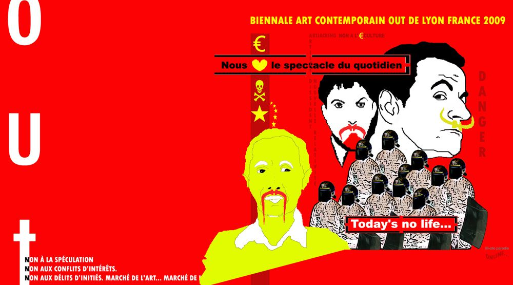 biennale art contemporain lyon France, biennale out contre la biennale officielle de Lyon.  biennale de Lyon en France, exposition, culture art numérique, art et création contemporaine d'artiste contemporain événement artistique, presse, biennale