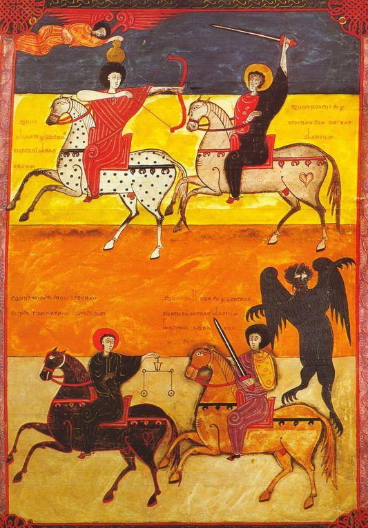 Manuscrit de 1047, créé pour le roi Ferdinand 1er et la reine Sancha de Castille. Source des images : Wikimedia Commons.