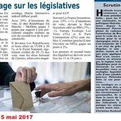 SONDAGE LÉGISLATIVES : La France insoumise à 15 % des intentions de votes (+ 1 point)