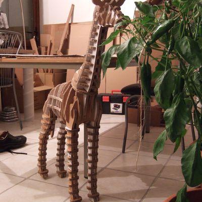 ma girafe en carton