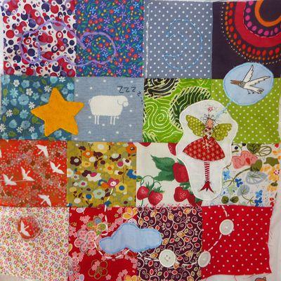 tapisseries en patchwork