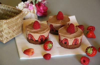 Bavarois framboises chocolat