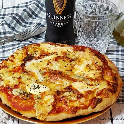 pizza con masa de cerveza Guinnes