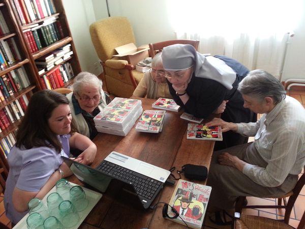 """Maison de retraite """"Ma Maison"""" : les livres sont arrivés ! Ecoute des livres audionumériques sur l'ordinateur."""