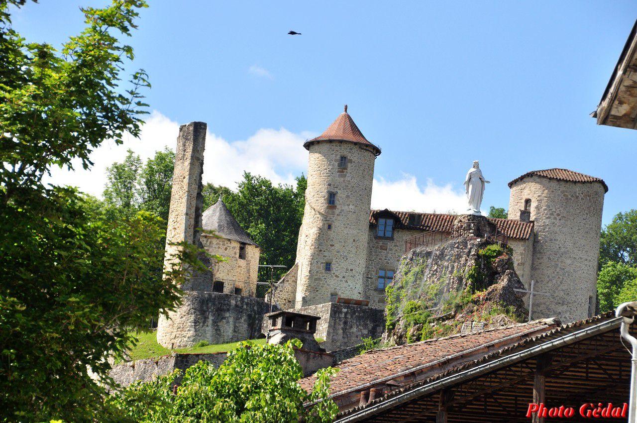 Vue sur le château qui domine la ville .