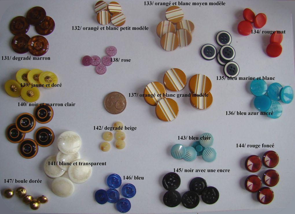 boutons (lot de 5), pression, agraffes...