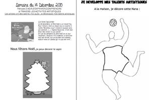 Noël cahier de liaison n°14 (2015-2016)