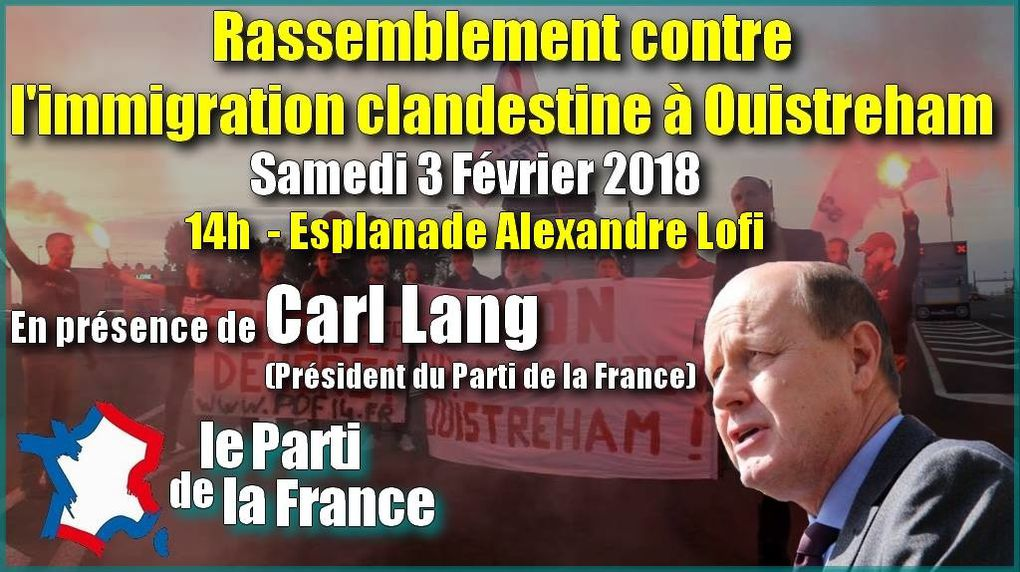 Ouistreham : Interviews, distribution de flyers, porte-à-porte, collage d'affiches, les militants du Parti de la France annoncent le rassemblement de samedi à la population