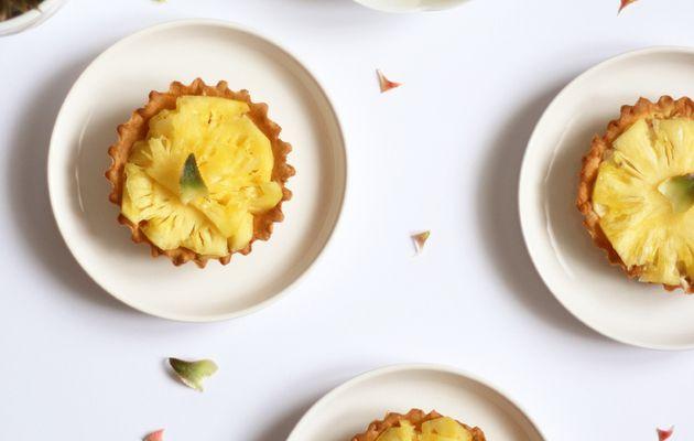 Tartelettes à l'ananas victoria de l'île Maurice et sa crème pâtissière à la vanille