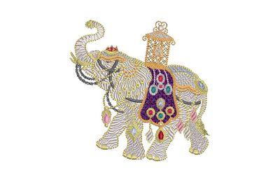 BRODERIE ELEPHANT D'INDE