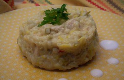 risotto à l'indienne (poireau,poulet ,curry) TM31