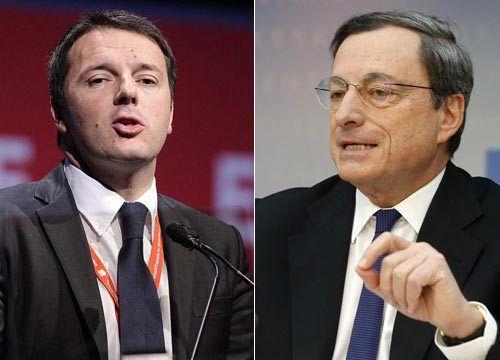 Il presidente della Bce e il capo del governo finiscono sotto il tiro dei tedeschi e della Commissione, sia pure con diverse motivazioni