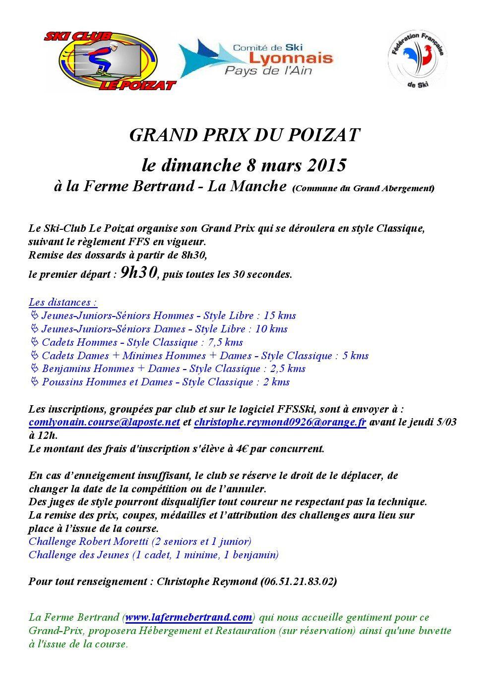 Grand Prix du Poizat.