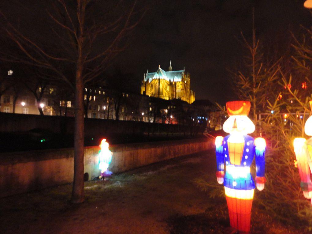 parcours illuminé à Metz, autour du Conseil Général