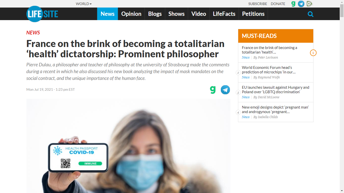 https://www.lifesitenews.com/news/france-on-the-brink-of-becoming-a-totalitarian-health-dictatorship-prominent-philosopher