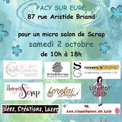 Micro salon à Pacy le 2 Octobre !