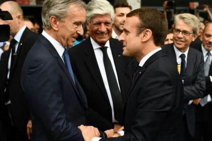 Bernard Arnault, symbole de la fausse générosité des milliardaires! Macron bouffon des rois de la finance plus que jamais !