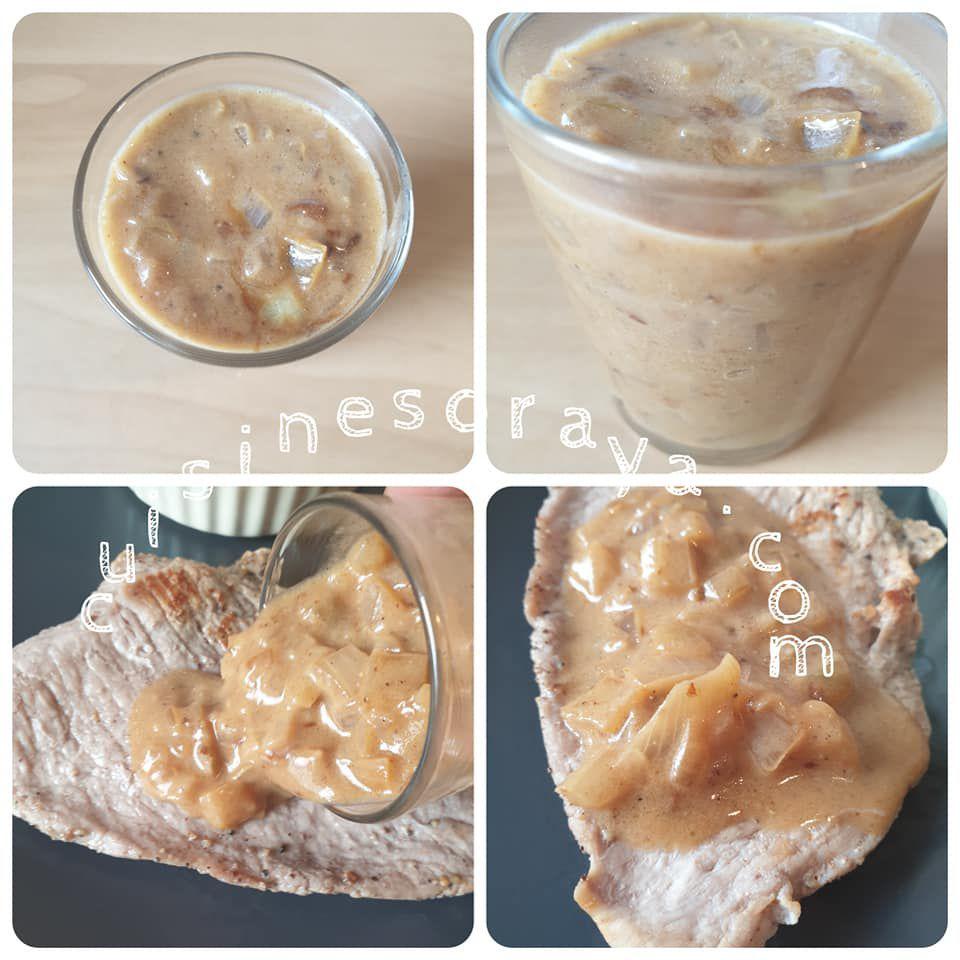 Escalope de veau sauce à l'oignon et roses de pommes de terre