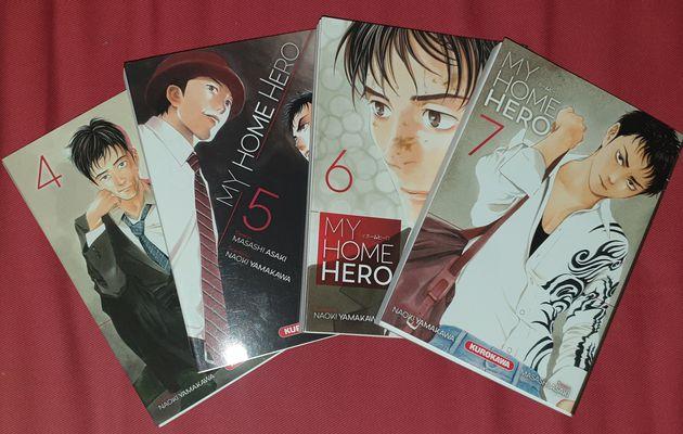 [REVUE MANGA] MY HOME HERO TOME 4 à 7 aux éditions KUROKAWA