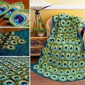 Beautiful Crochet Idea: Peacock Feathers